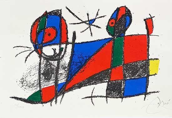 Litografia Miró - Miro lithographe