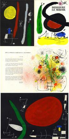 Litografia Miró - MIRO. L'OISEAU SOLAIRE, L'OISEAU LUNAIRE, ÉTINCELLES. Derrière Le Miroir n° 164-165. Avril-Mai 1967