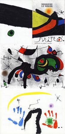 Libro Illustrato Miró - MIRO. PEINTURES SUR PAPIER, DESSINS. DERRIÈRE LE MIROIR N°193-194. Novembre 1971.