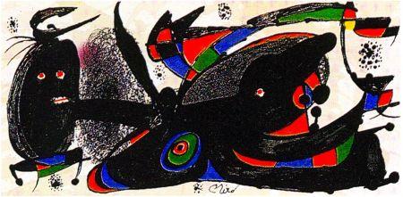 Litografia Miró - Miro Sculptor - England