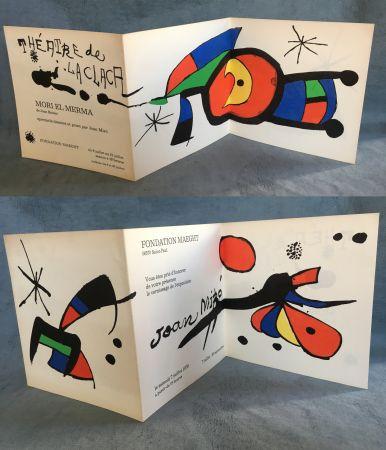 Litografia Miró - MIRO : Vernissage et MORI EL MERMA spectacle à la Fondation Maeght. 1979.