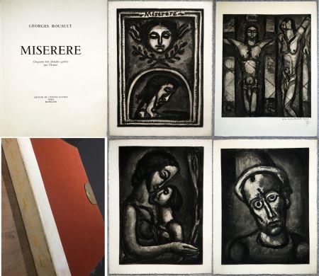 Libro Illustrato Rouault - MISERERE. 58 gravures. La suite complète des 58 gravures. Éditions de l'étoile filante, 1948