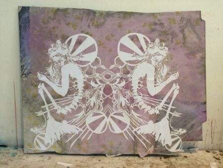Serigrafia Swoon - Miss Rockaway Mirror