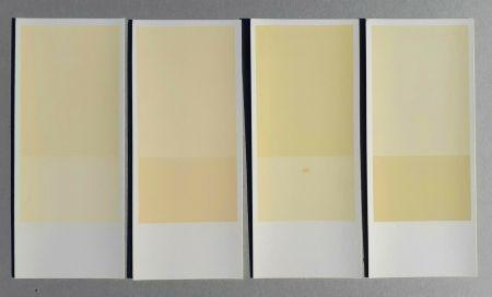 Litografia Calderara - Misura, luce, colore