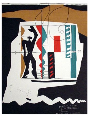 Litografia Le Corbusier - Modular (1962)