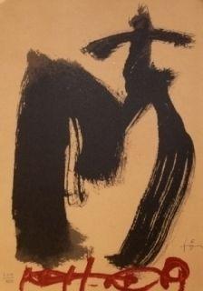Litografia Tàpies - M.Ojos y cruz