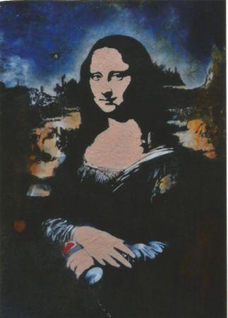 Serigrafia Blek Le Rat - Mona Lisa