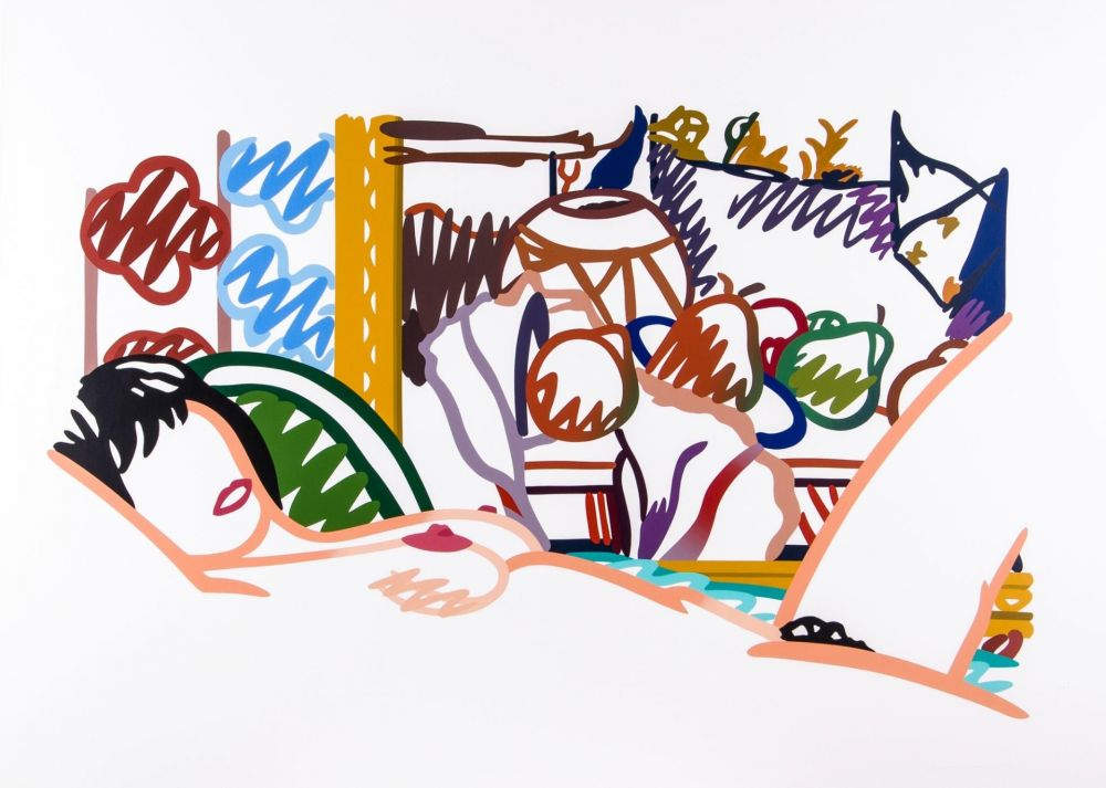 Serigrafia Wesselmann - Monica Nude with Cezanne
