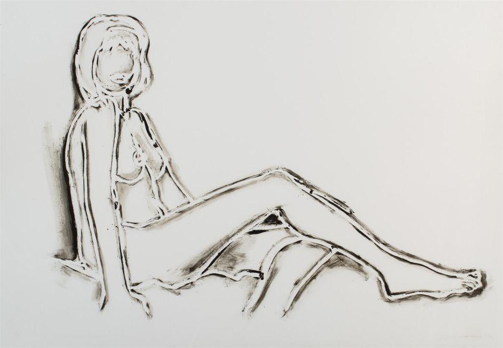 Litografia Wesselmann - Monica reclining towards right