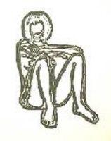 Litografia Wesselmann - Monica sitting with elbows on knees