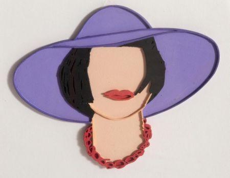 Multiplo Wesselmann - Monica with a Purple Hat (unique variation)