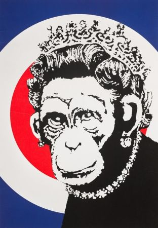 Serigrafia Banksy - Monkey Queen