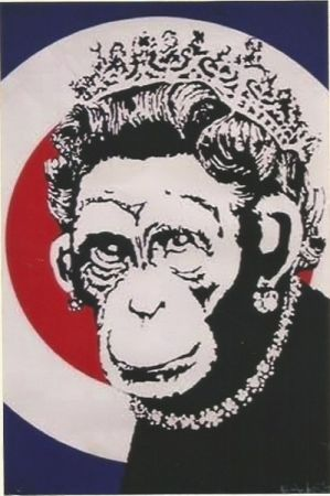 Serigrafia Banksy - Monkey Queen