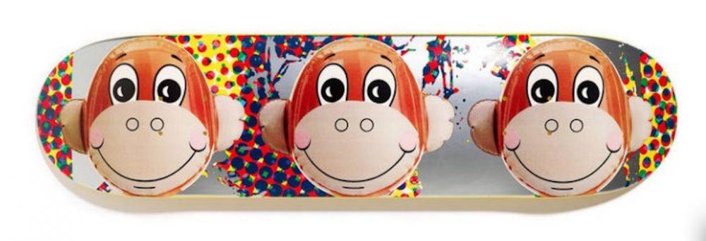 Serigrafia Koons - Monkey Train Skate Deck