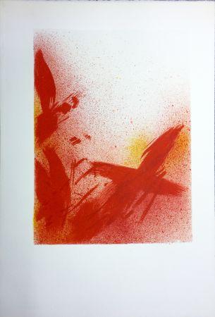 Litografia Bazaine - MONOGRAPHIE EN ROUGE (1975) sur vélin d'Arches.