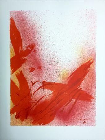 Litografia Bazaine - MONOGRAPHIE EN ROUGE (1975) sur vélin de Rives.