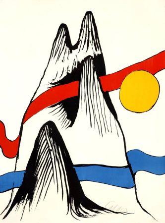 Litografia Calder - Montagne et Soleil