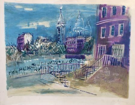 Litografia Dufy - Montmartre