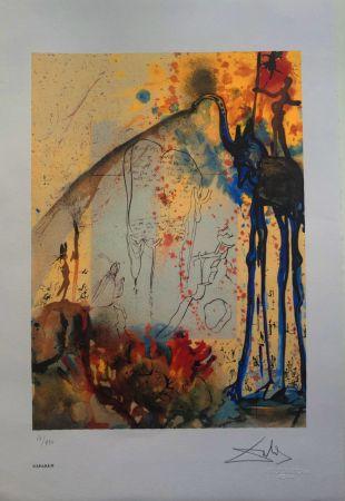 Litografia Dali - Mosè e il monoteismo