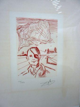 Incisione Dali - Moshe Dayan (Five Famous Heads)
