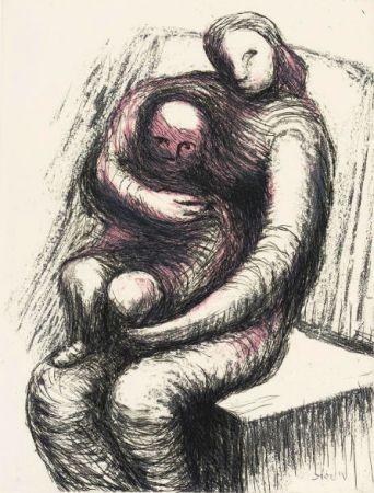 Acquaforte E Acquatinta Moore - Mother and Child XI