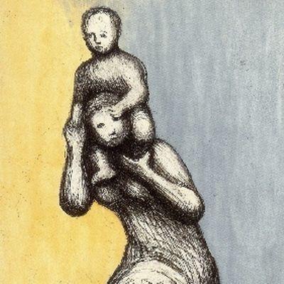 Acquaforte E Acquatinta Moore - Mother & Child VIII