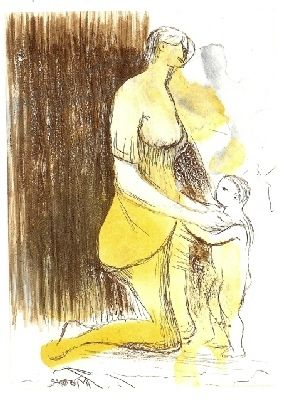Incisione Moore - MOTHER & CHILD XXVI,1983