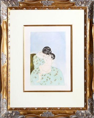 Incisione Cassatt - Mother's Kiss