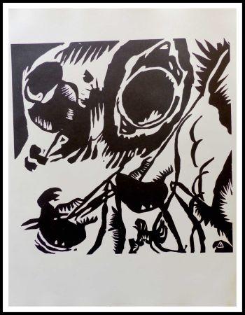 Incisione Su Legno Kandinsky - MOTIV AUS IMPROVISATION - Jardin de l'amour