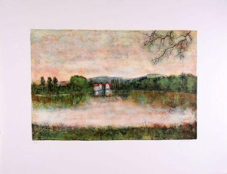 Litografia Gantner - Moulins au bord de l'eau - Mills at the border water