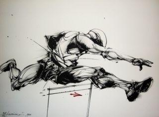 Litografia Velickovic - Mouvement