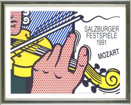 Litografia Lichtenstein - Mozart - Salzburg