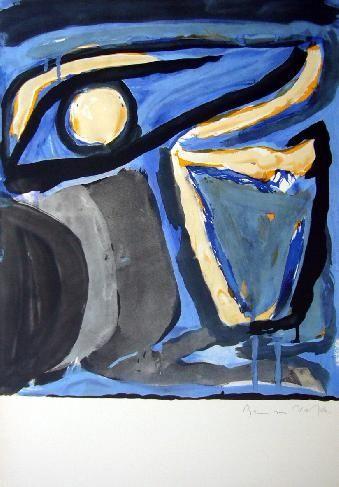 Litografia Van Velde - MP 65 -Musée national d'Art moderne