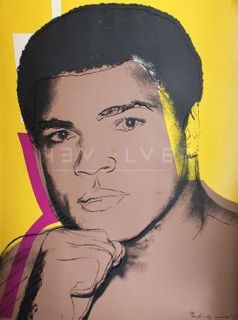 Serigrafia Warhol - Muhammad Ali, Yellow (FS II.182)
