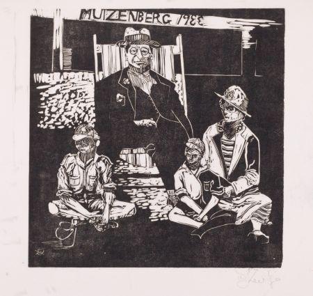 Linoincisione Kentridge - Muizenberg 1933