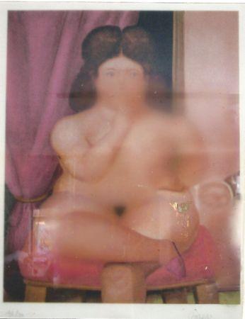 Litografia Botero - Mujer fumando
