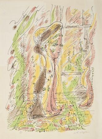 Litografia Masson - Mujer junto a la ventana
