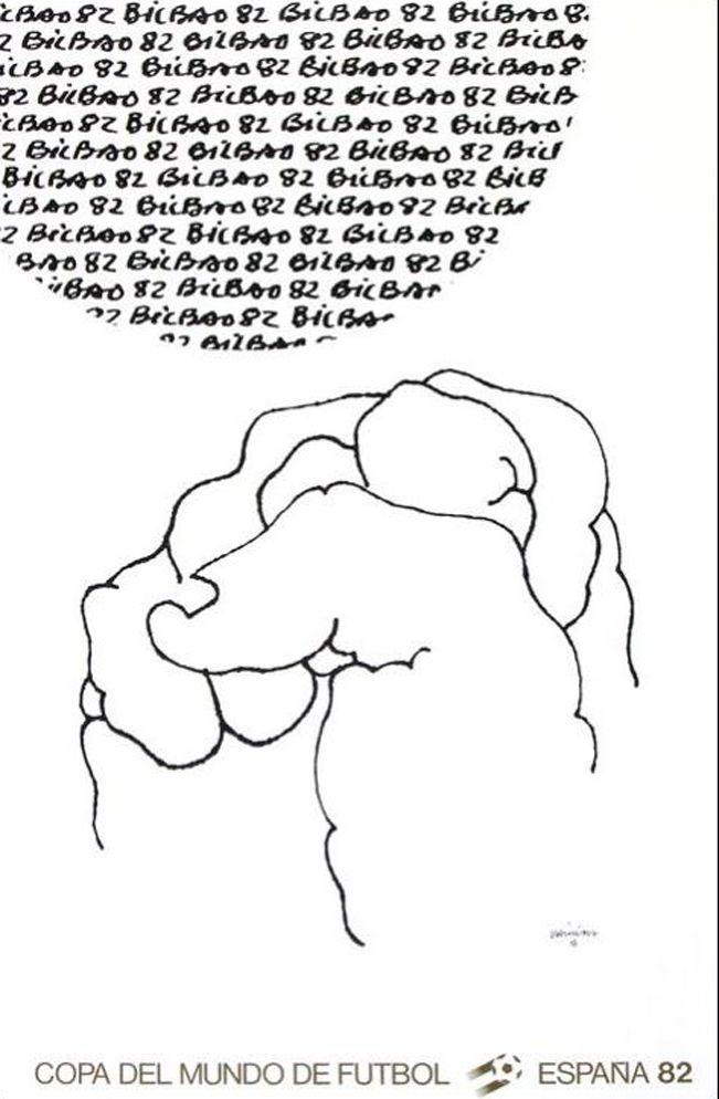 Litografia Chillida - '' Mundial 1982 ''