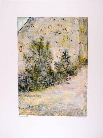 Litografia Gantner - Mur de ferme - Farm's wall