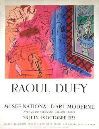 Litografia Dufy - Musee  D'Art Moderne 1953