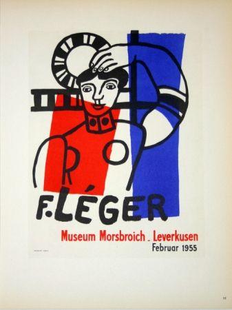 Litografia Leger - Museum  Morsbroich  - Leverkussen 1955