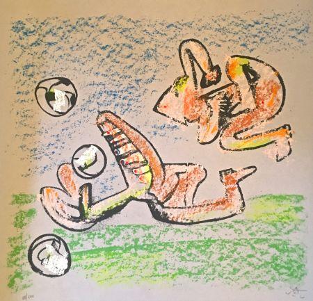 Litografia Matta - Music foot II