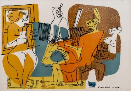 Litografia Le Corbusier - Musiciennes (hand-signed & numbered)