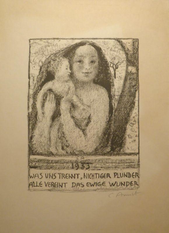 Litografia Amiet - Mutter und Kind