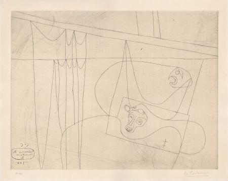 Acquaforte Le Corbusier - Naissance du Minotaure II (hand-signed & numbered)