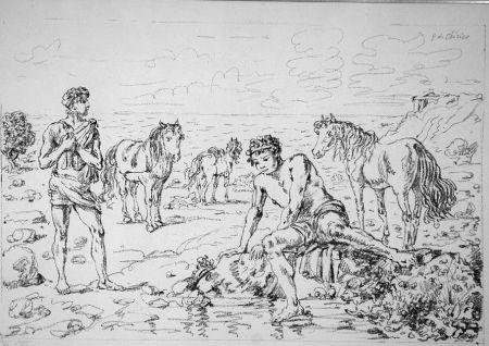 Litografia De Chirico - Narciso Ippofilo