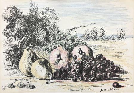 Litografia De Chirico - Natura morta