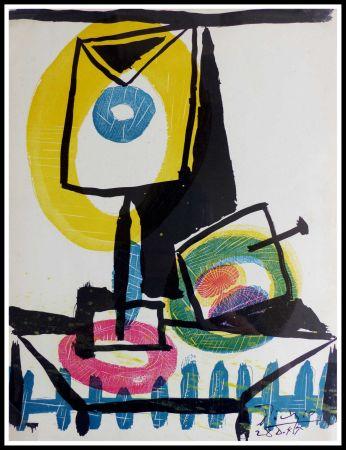 Litografia Picasso - NATURE MORTE AU VERRE