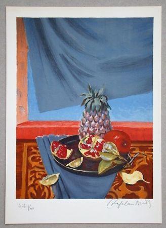 Litografia Chapelain-Midy - Nature Morte aux Ananas et Grenades