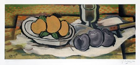 Litografia Braque - Nature Morte Aux Fruits, 1950